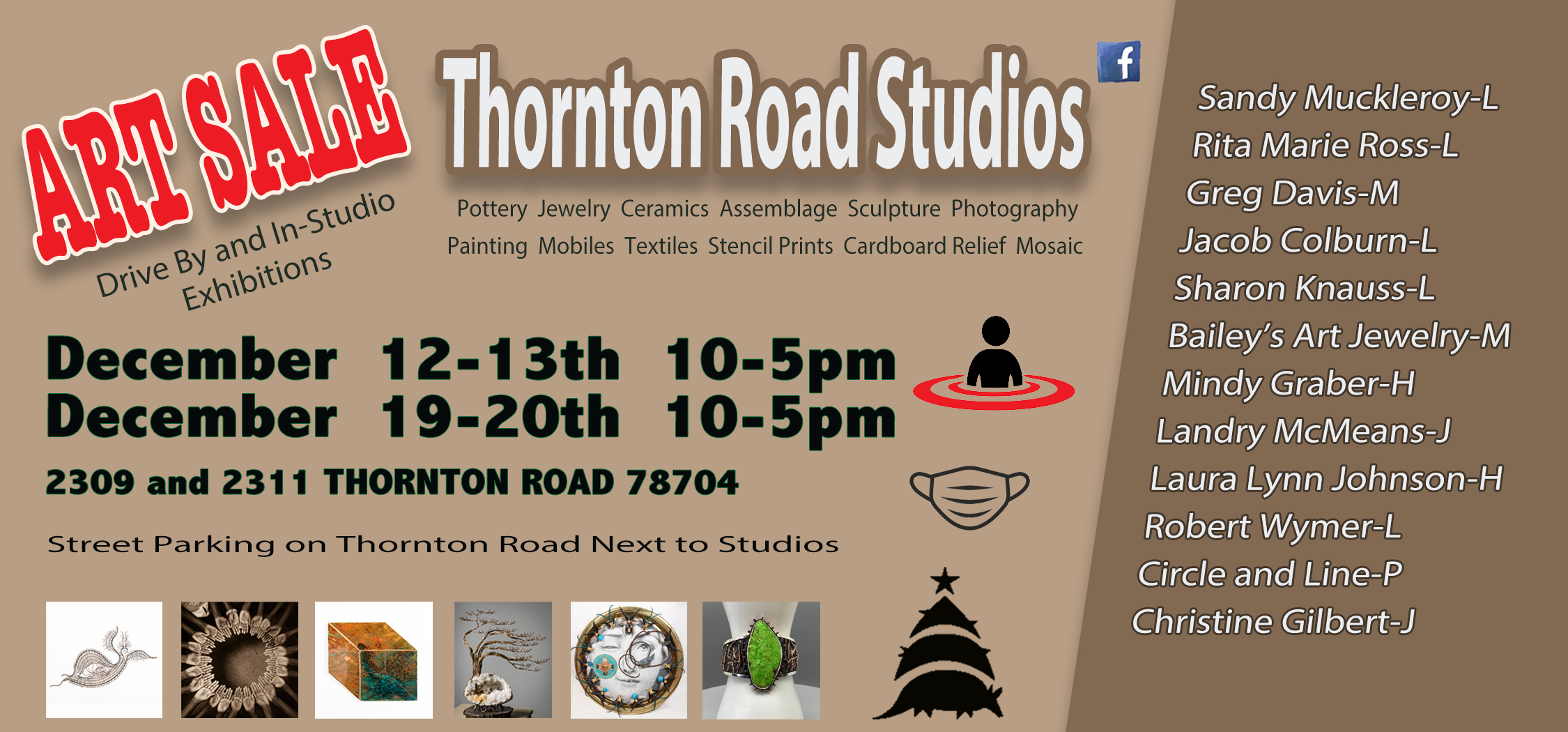 Thornton Road Studios Christmas Art Sale